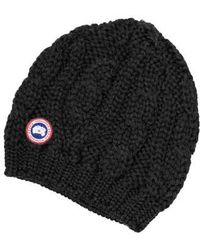 Canada Goose - Cable Knit Merino Wool Beanie - Lyst