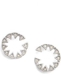Dana Rebecca - Emily Sarah Triangle Diamond Stud Earrings - Lyst