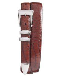 Torino Leather Company - Alligator Embossed Leather Belt - Lyst