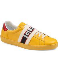 9edf8bfb9e6 Lyst - Gucci New Ace Metallic Sneakers in Metallic for Men