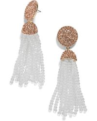 BaubleBar - Elle Beaded Tassel Drop Earrings - Lyst