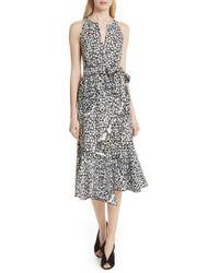 10 Crosby Derek Lam - Asymmetrical Faux Wrap Dress - Lyst