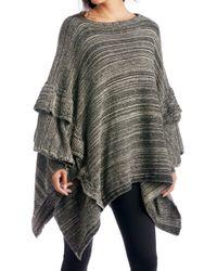 Sole Society - Ruffle Trim Knit Poncho - Lyst