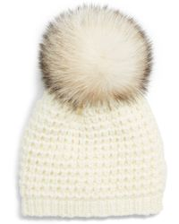 Kyi Kyi - Genuine Fox Pompom Hat - Lyst