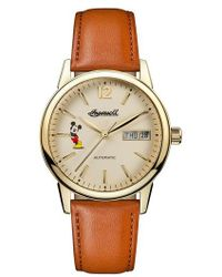 INGERSOLL WATCHES - Ingersoll New Haven Disney Automatic Leather Strap Watch - Lyst