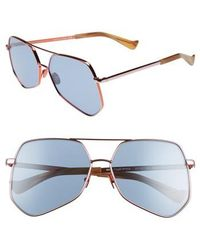 Grey Ant - Megalast Flat 61mm Sunglasses - Copper Pink / Light Blue - Lyst