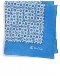 David Donahue - Medallion Linen Pocket Square - Lyst