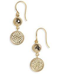 Anna Beck | Semiprecious Stone Double Drop Earrings | Lyst