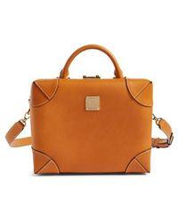 MCM - Small Berlin Vachetta Leather Crossbody Bag - - Lyst