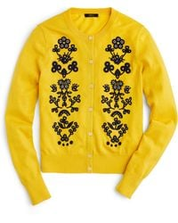 J.Crew - Jackie Cardigan Sweater In Floral Embroidery - Lyst
