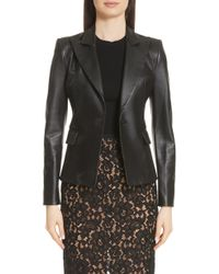 Michael Kors - Plonge Leather Jacket - Lyst