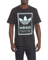 Graphic Black Lyst Originals In For Adidas Logo Shirt T Vintage Men Ut0qw6O