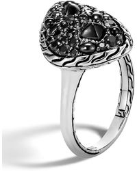John Hardy - Classic Chain Ring With Black Sapphire And Black Spinel - Lyst