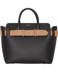 4758f64df819 Lyst - Burberry The Medium Orchard In Signature Grain Leather in Black