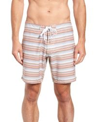 Rhythm - Tuscan Stripe Swim Trunks - Lyst