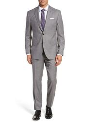 Ted Baker - Jay Trim Fit Plaid Wool Suit - Lyst