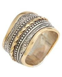 Konstantino | 'hebe' Wavy Etched Band Ring | Lyst