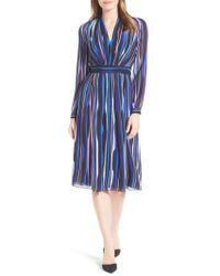 Anne Klein - Stripe Fitted A-line Dress - Lyst