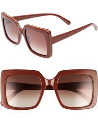 Stella McCartney - 53mm Square Sunglasses - Lyst