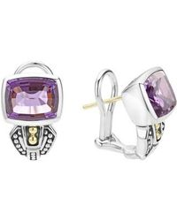 Lagos - 'caviar Color' Semiprecious Stone Stud Earrings - Lyst