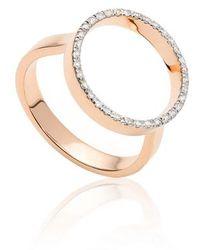 Monica Vinader - Naida Diamond Circle Ring - Lyst