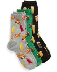 Hot Sox - 3-pack Football Socks, Black - Lyst