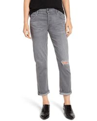 Citizens of Humanity - Emerson Ripped Slim Boyfriend Jeans - Lyst