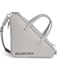 f568434e3f0 Balenciaga - Extra Small Glitter Triangle Leather Bag - - Lyst
