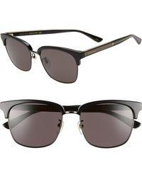 221e8539dc8 Lyst - Gucci 52mm Square Sunglasses in Brown for Men