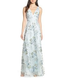 91bb6a23bffa Jenny Yoo - Tatum Floral Embroidered Tulle Evening Dress - Lyst