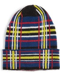 TOPSHOP - Check Brushed Beanie - - Lyst