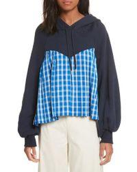 Sea - Bell Sleeve Combo Sweatshirt - Lyst