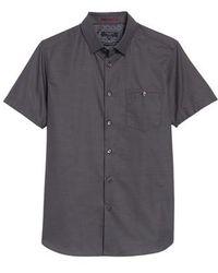 Ted Baker - Dotdots Trim Fit Dot Short Sleeve Sport Shirt - Lyst