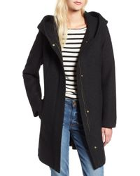 Cole Haan - Textured Hooded Coat - Lyst
