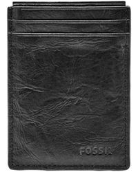 Fossil - Neel Magnetic Leather Money Clip Card Case - - Lyst