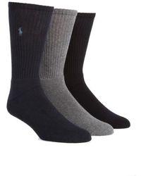Polo Ralph Lauren - 3-pack Crew Socks - Lyst