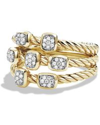David Yurman - 'confetti' Ring With Diamonds In Gold - Lyst