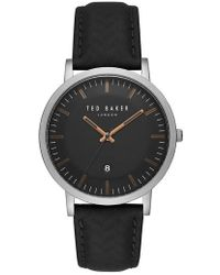 Ted Baker - David Leather Strap Watch - Lyst