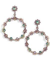 Sorrelli - Cirque Crystal Hoop Earrings - Lyst