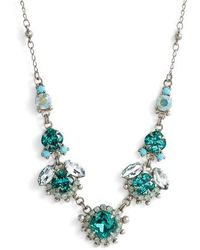 Sorrelli - California Poppy Crystal Necklace - Lyst