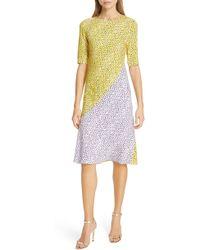 Diane von Furstenberg - Arlow Pattern Mix Dress - Lyst