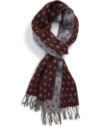 8dfd200b7bd7 Lyst - Ted Baker Redpine Scarf With Spot in Gray for Men