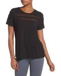 Zella - Everly Mesh Stripe Tee - Lyst