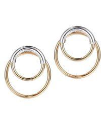 Jenny Bird - Ossie Drop Back Hoop Earrings - Lyst
