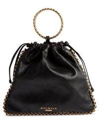 Balmain - Leather Bracelet Backpack - - Lyst