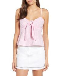 The Fifth Label - Parcel Stripe Tie Front Tank - Lyst