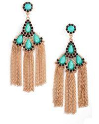 Adia Kibur - Chain Fringe Drop Earrings - Lyst