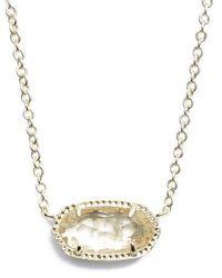 Kendra Scott | Elisa Birthstone Pendant Necklace | Lyst