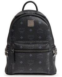 MCM - Mini Stark Side Stud Coated Canvas Backpack - Lyst