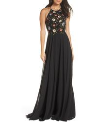 Jenny Yoo - Sophie Embroidered Luxe Chiffon Gown - Lyst